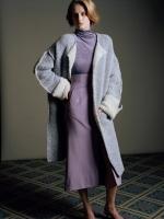 mame  Mouton Knit ノーカラーコート