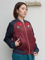 MUVEIL バラ刺繍スカジャン