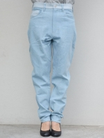SISE DENIM WIDE PANTS