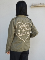 "Tu es mon TRESOR M65field jacket ""Open your heart"""