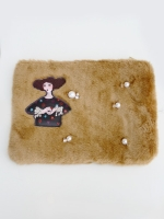 Zayan The Label  FUR CLUTCH