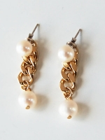 MONDAY EDITION PEARL&CHAIN EARRINGS